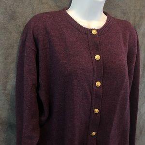 ⬇️32 Vtg Pendleton Button Up Wool Sweater Sz M